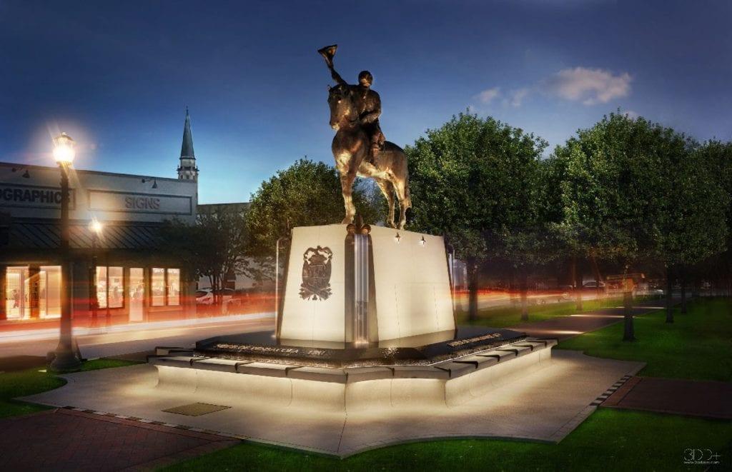 Photo of Bernardo de Gálvez Monument, a commercial construction project of Bear General Contractors