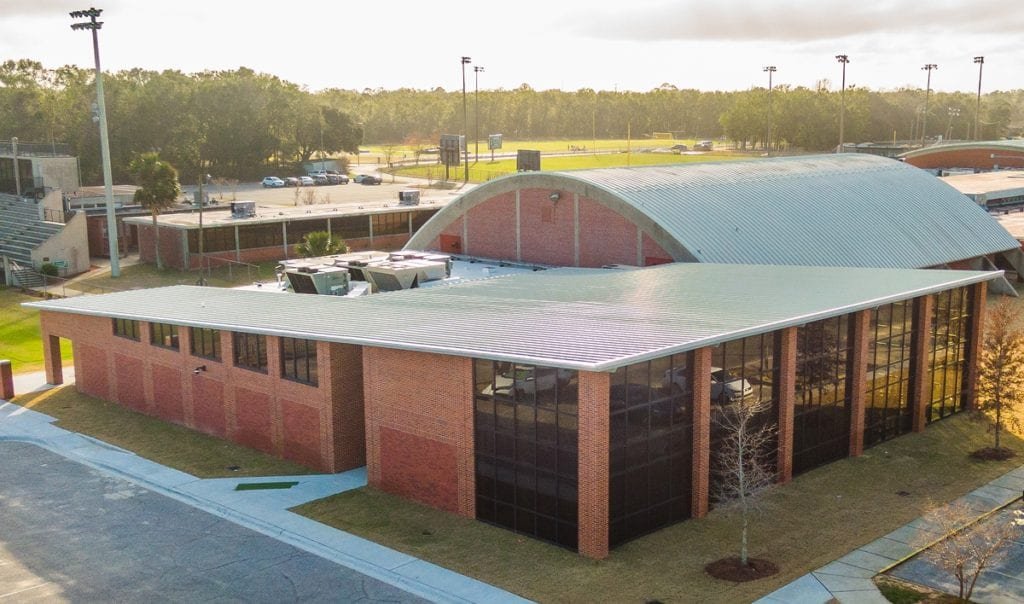 Photo of Catholic High School Fitness Center, a commercial construction project of Bear General Contractors