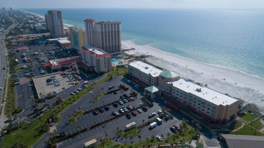 Photo of Hampton Inn Pensacola Beach, a commercial construction project of Bear General Contractors