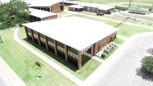 Photo of Catholic High School Student Life Center, a commercial construction project of Bear General Contractors