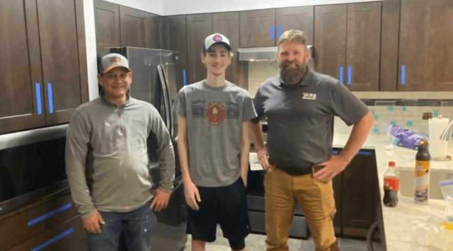 Photo of Ross and Dan Bruns with Luke Pittman of Bear General Contractors